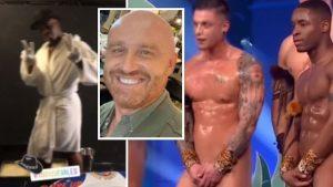 Candyman |  gli spogliarellisti di Tu si que vales nudi per Rudy Zerbi  Il video del nudo