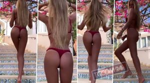 Taylor Mega, piscina e gambe aperte: addominali da urlo – FOTO