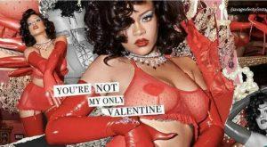 Rihanna celebra San Valentino in sexy lingerie rossa: «Qualsiasi cosa vi faccia sentire bene, fatela!»