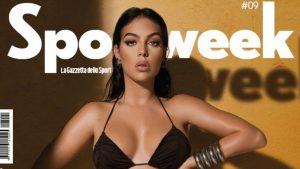 """Georgina Rodriguez, un bikini da copertina: """"Mi piacciono le mie curve"""""""